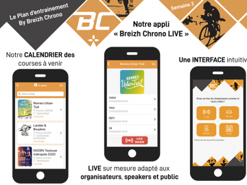 The Training Plan - Episode 3 :  L'application BREIZH CHRONO LIVE  Amis utilisateurs, car vous êtes de plus en plus connectés, la nouvelle version de...